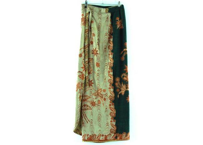 Back of Floral Tie Skirt