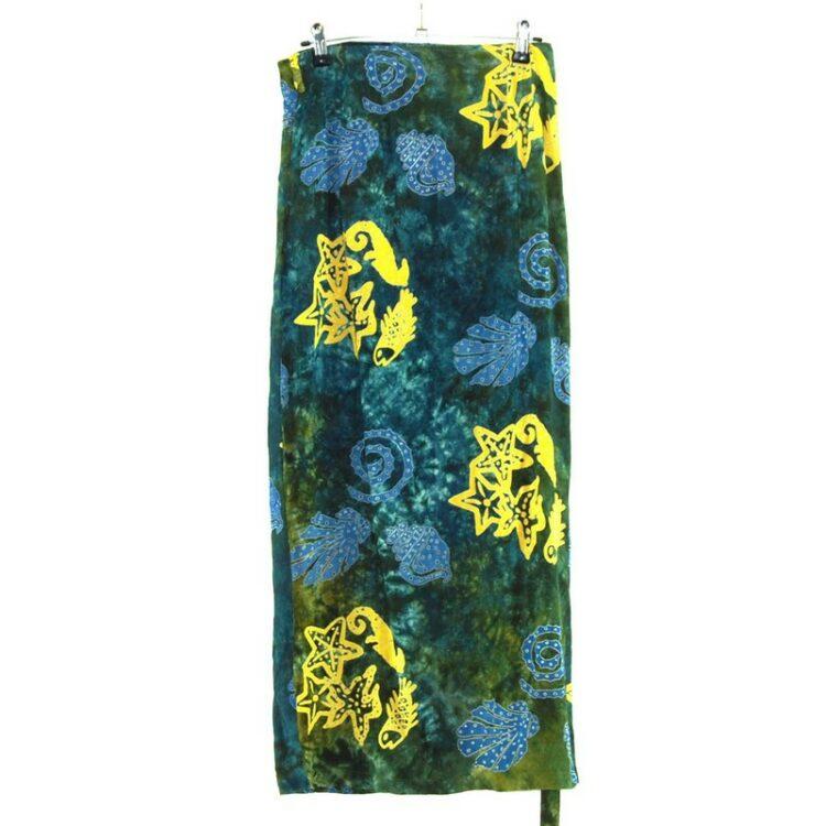 Seashells Batik Wrap Skirt