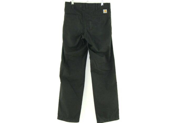 Back of Carhartt Black Trousers