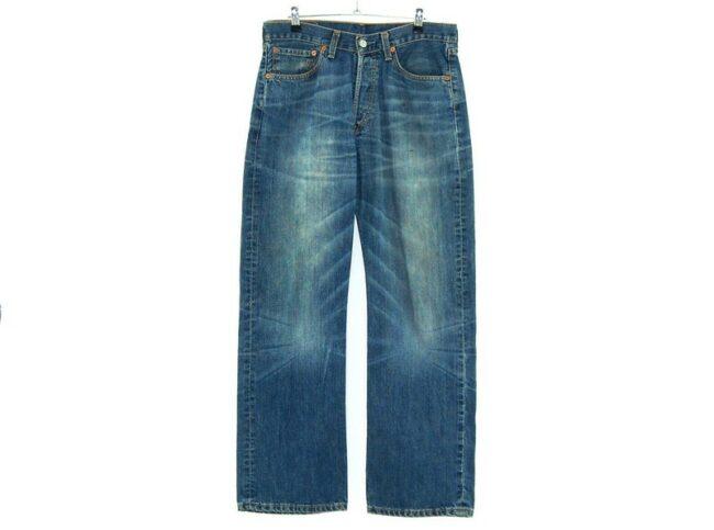 Front profile of Blue Denim Levi 508 Jeans
