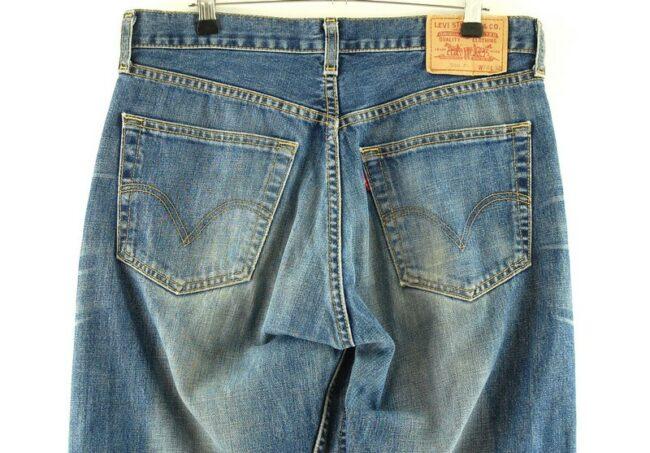 Back of Blue Denim Levi 508 Jeans