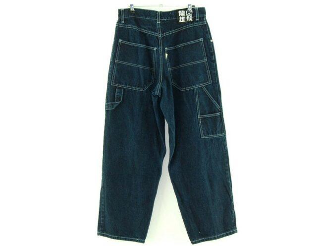 Back of Delf USA Japanese Label Jeans