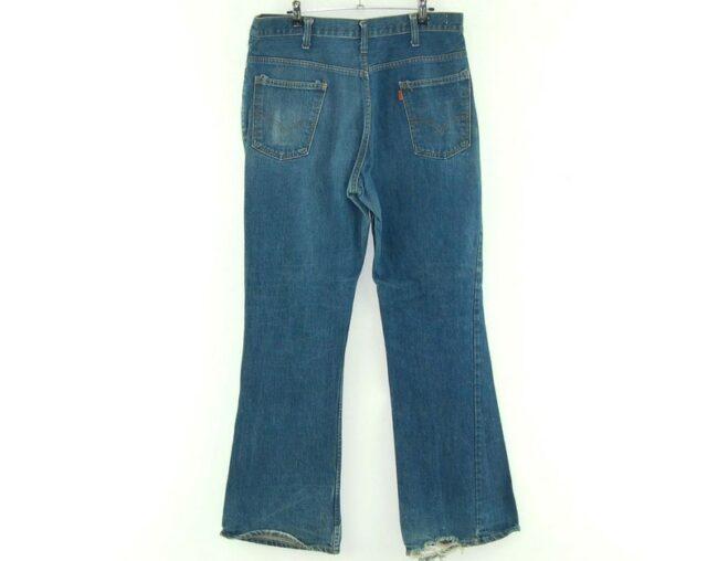 Back of 70s Blue Levis 646
