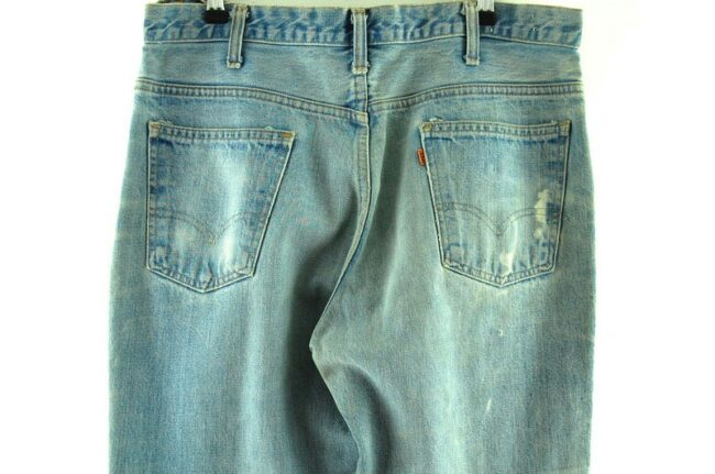 Back of Faded Blue Levis 646 Jeans