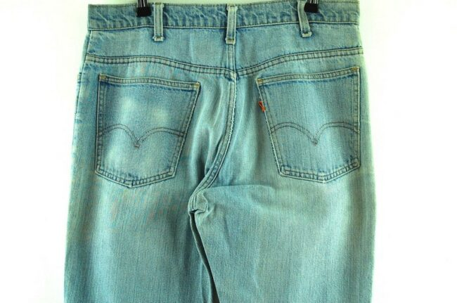 Back of 70s Levis 646 Jeans