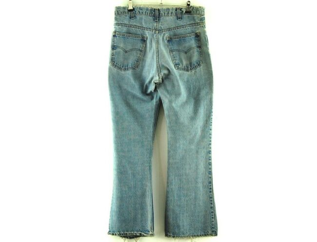 Back of 646 Levis Flare Jeans
