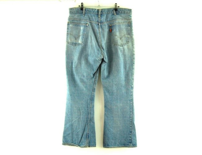 Back of Blue 646 70s Levis Flare