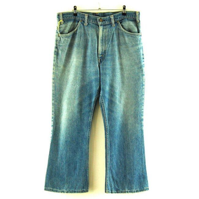 646 Bell Bottom Levi Distressed Denim Jeans