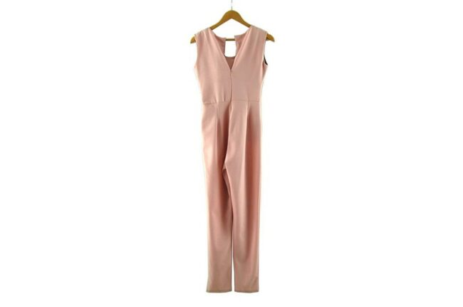 Back of Salmon Pink 90s Jumpsuit