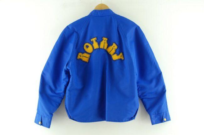 Back of Assiniboine Rotary Club Nylon Bomber Jacket