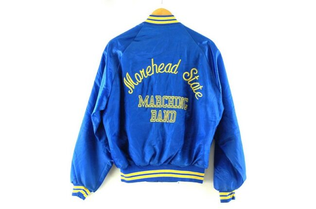 Back of Momehead State Marching Band American Bomber Jacket