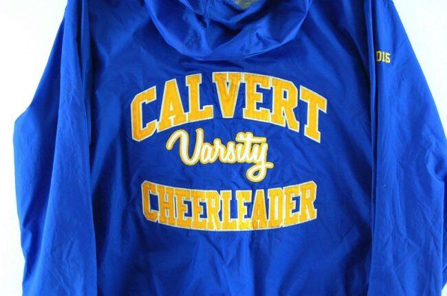 Back of Calvert Varsity Cheerleader American Bomber Jacket