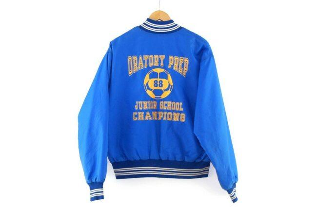 Back of Oratory Prep Junior School Champions American Bomber Jacket