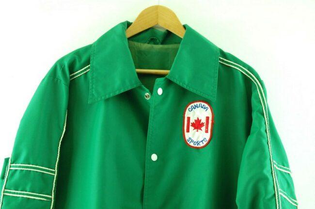 Close up of Canada Sports Nylon Coach Jacket