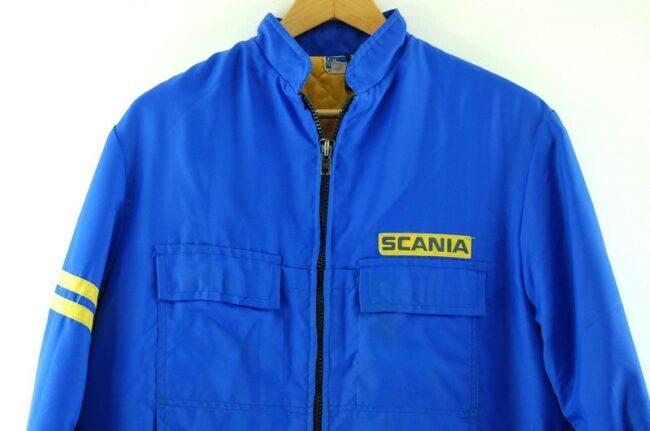 Close up of Blue Scania Trucker Jacket