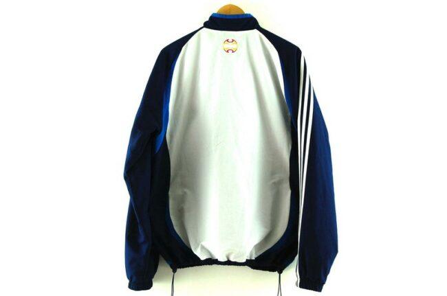 Back of Blue Real Federacion Española De Futbol Adidas Training Top
