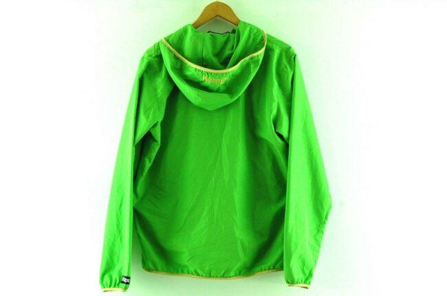 Back of Lime Green Kempa Handball Jacket