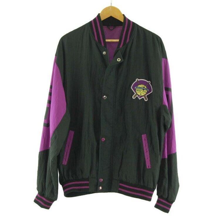Black Nylon Baseball Jacket