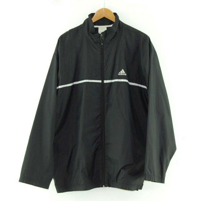 Black Adidas Windbreaker Jacket