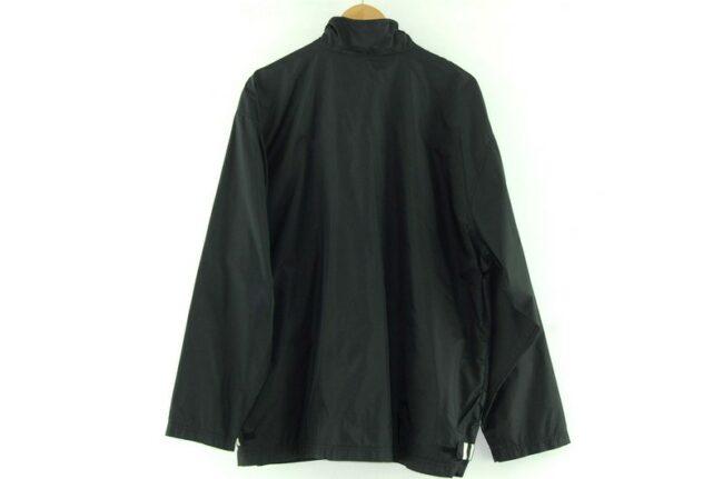 Back of Black Adidas Windbreaker Jacket