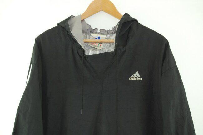 Close up of Adidas Black Hoodie Jacket