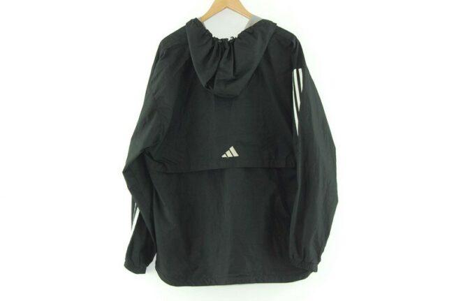 Back of Adidas Black Hoodie Jacket