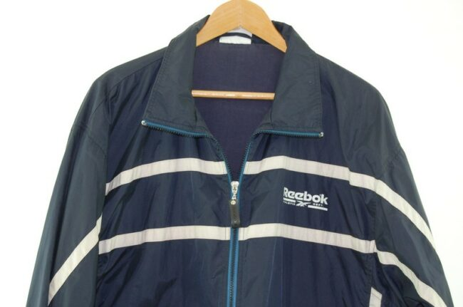 Front of Navy Reebok Athletic Department Jacket