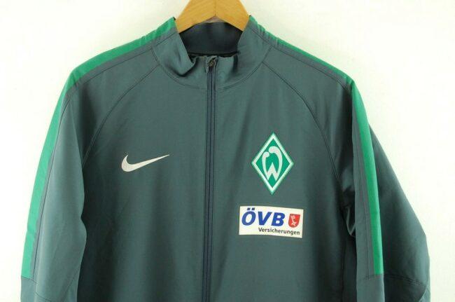 Close up of Grey Nike Soccer Jacket