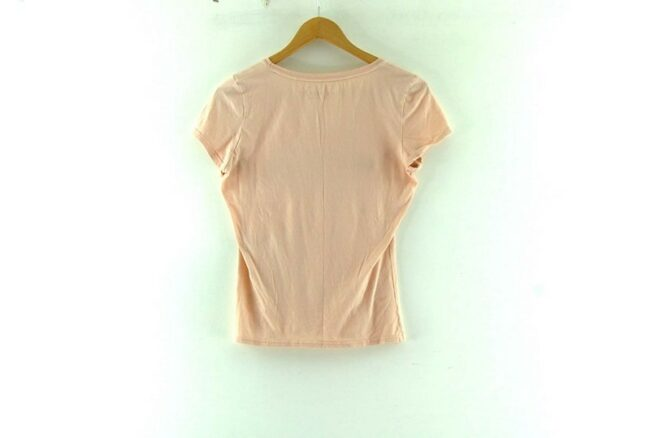 Back of Womens Guess T Shirt Pink