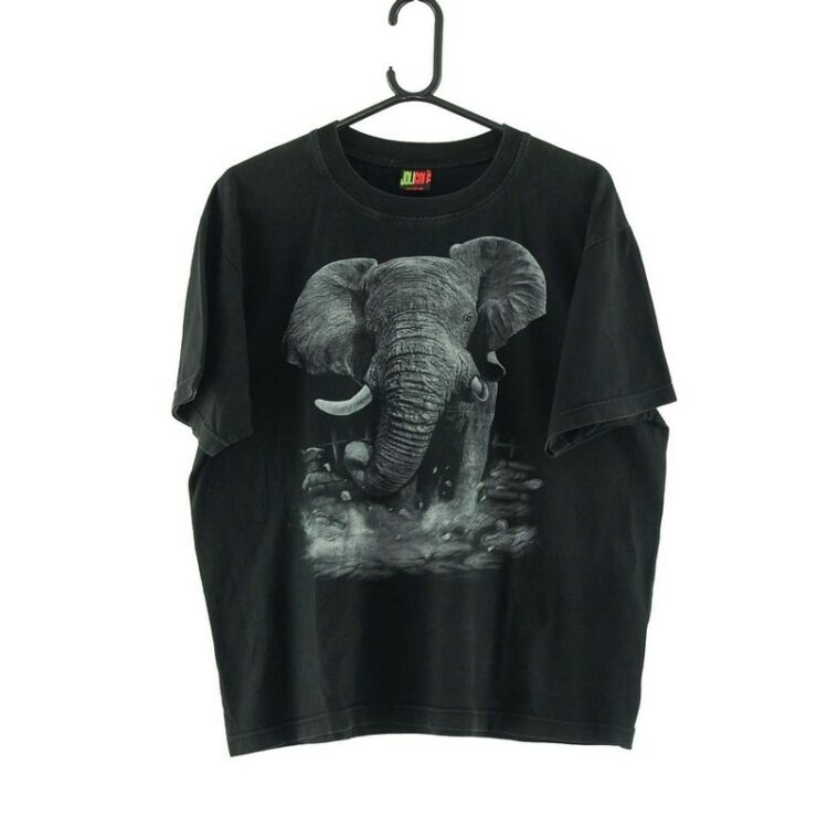 Elephant Black Tee
