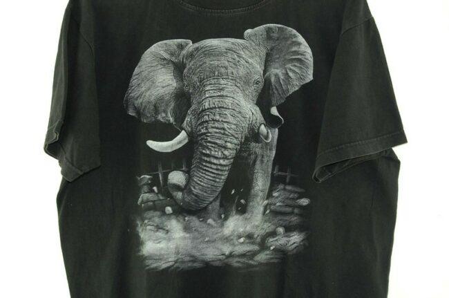 Close up of Elephant Black Tee