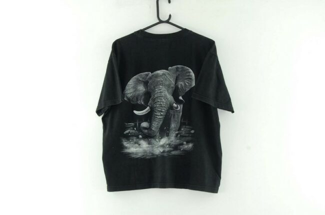 Back of Elephant Black Tee