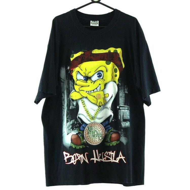 Spongebob Born Hustla Black Tee
