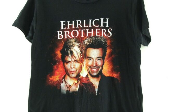 Close up of Ehrlich Brothers Black Tee