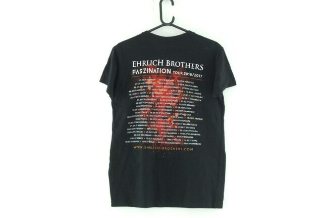 Back of Ehrlich Brothers Black Tee
