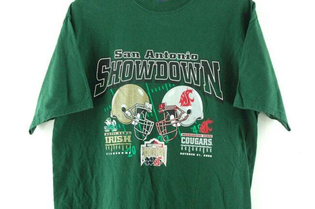 Close up of San Antonio Showdown Green Tee