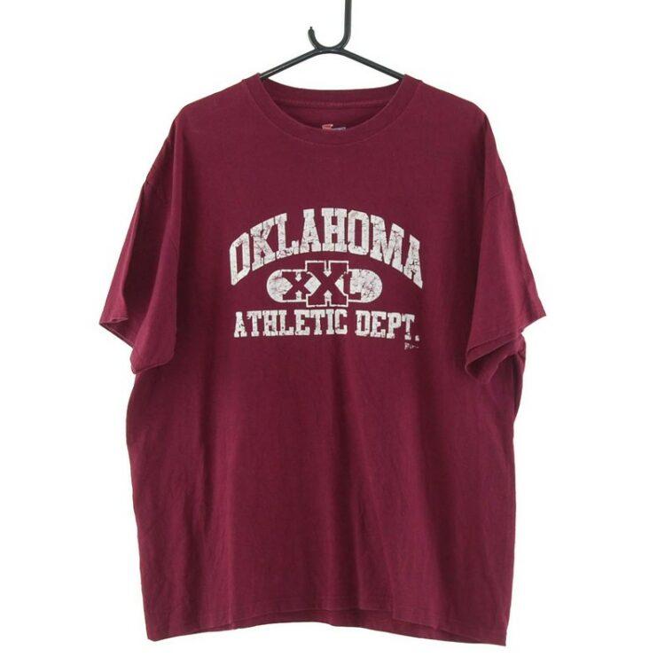 Oklahoma XXL Athletic Dept. Oxblood Tee