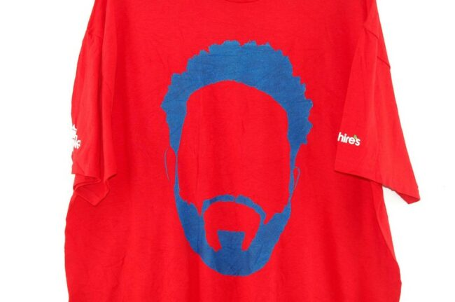 Close up of Texas Rangers All Hail the Prince Red Tee
