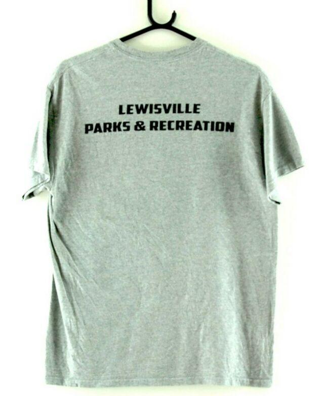 Back of Lewisville Ninja Warrior Grey Tee