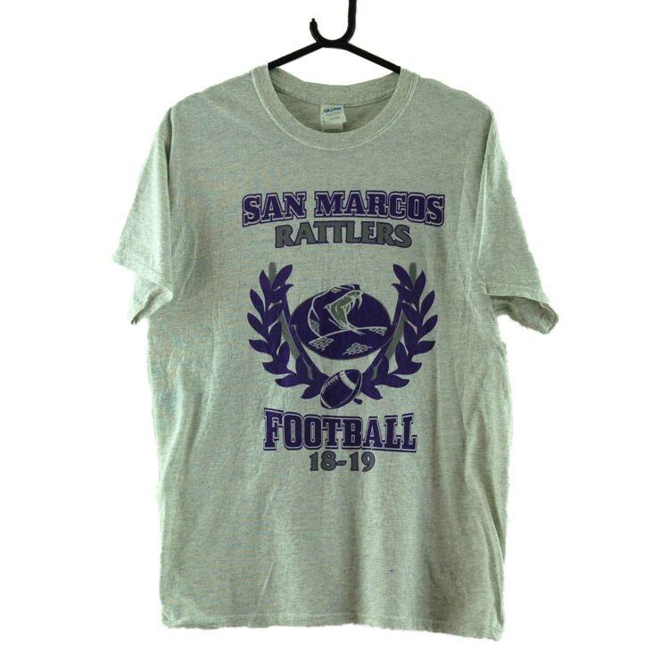 San Marcos Rattlers Football Grey Tee