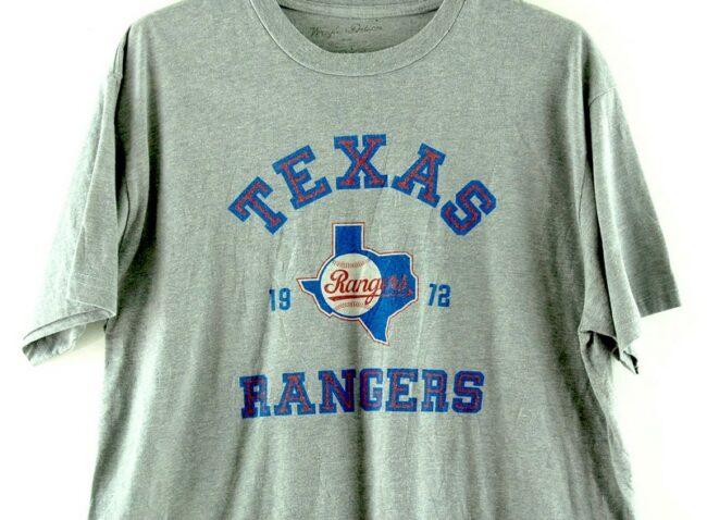 Close up of Texas Rangers Grey Tee