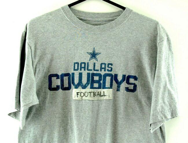 Close up of Dallas Cowboys Football Grey Tee