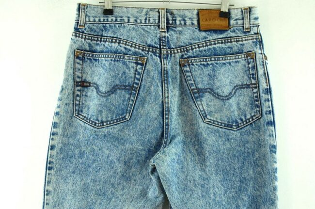 Back of High Waisted Grey Marble Wash Jeans