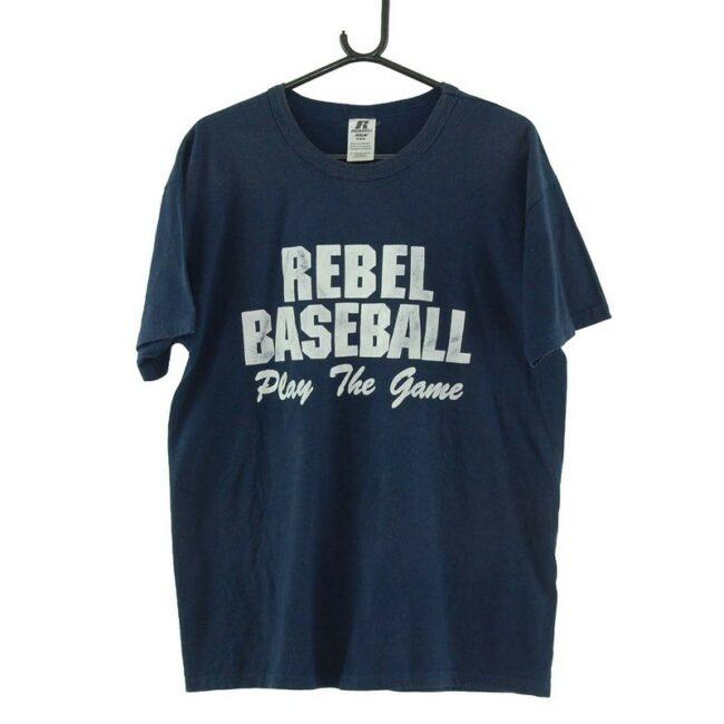 Rebel Baseball Navy Tee