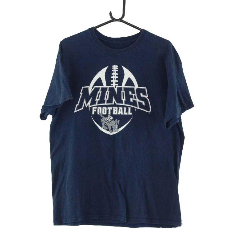 Mines Football Navy Tee