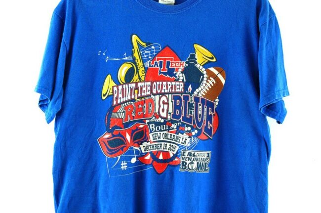 New Orleans Bowl 2015 Blue Tee