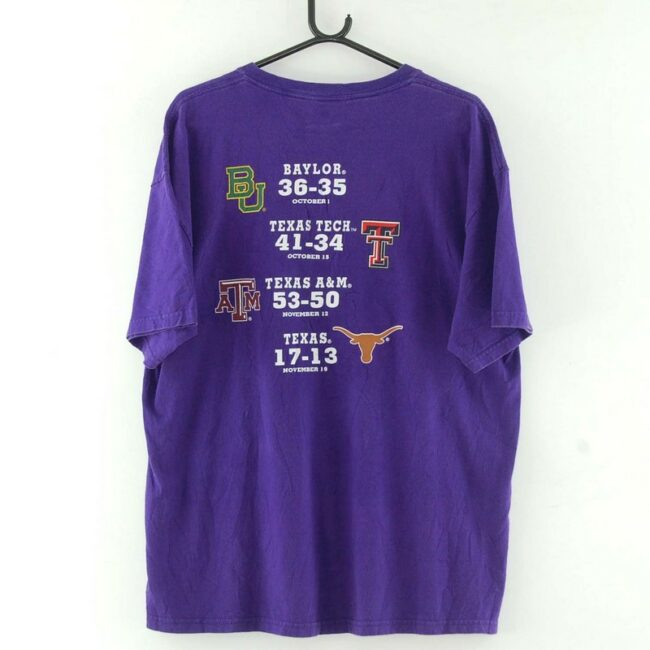 Back of 2011 Texas State Champs Purple Tee