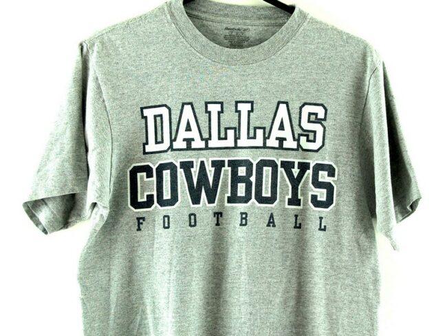 Close up of Dallas Cowboys Football Grey T-Shirt