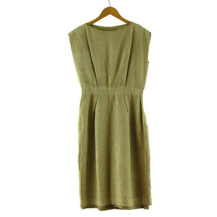 1960s Metallic Gold Dress