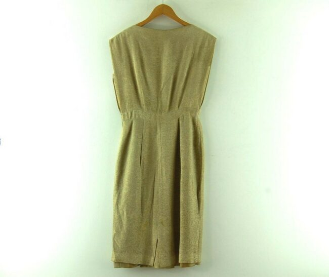Back of 1960s Metallic Gold Dress